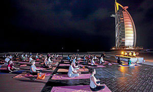 Yoga under an Arabian moon